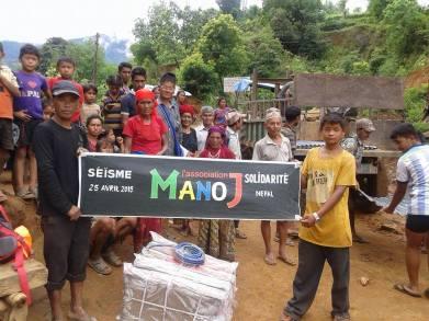 Livraison dans le village de Baluwa du VDC de Simjung