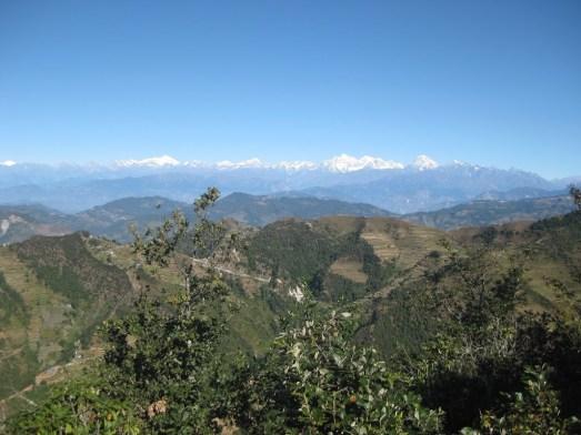 Situation géographique de NIGURE (vue sur la chaine Himalayenne)