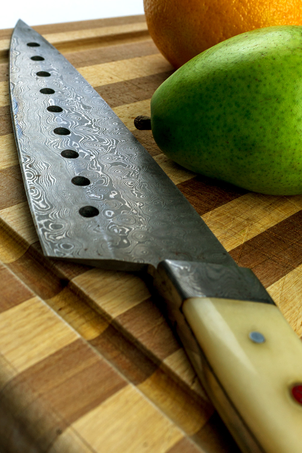 Knife and Fruit
