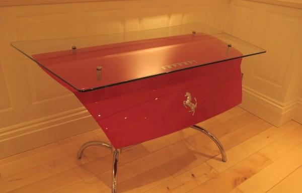 Ferrari Desk using Ferrari 456 bootlid