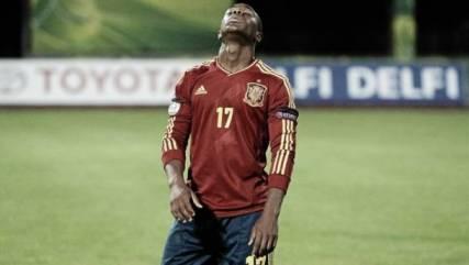 Adama Traore se lamenta con la camiseta de España Foto: vavel.com