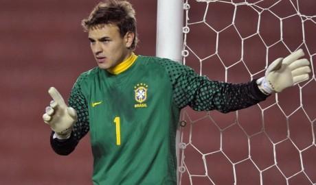 Gabriel defiende la portería de Brasil Sub'20 Foto: londres2012.atletasdecristo.org