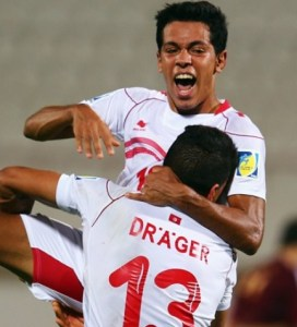 Los jugadores de Túnez celebraron la victoria ante una buena selección de Venezuela (Foto: FIFA.com)