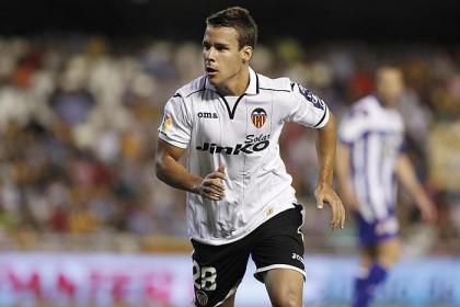Juan Bernat en un partido con el Valencia CF Foto: desde1919v.blogspot.com