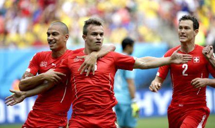 El extremo del Bayern colocó con su hat trick a Suiza en octavos. Foto: aldi.cr