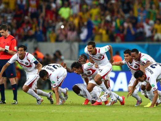 Costa Rica hizo historia en Brasil 2014 Foto: peru.com