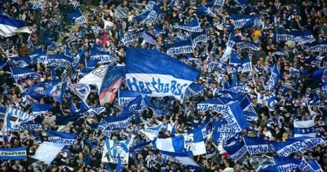 La afición del Hertha en el Olímpico de Berlín | Foto: The Hard Tackle