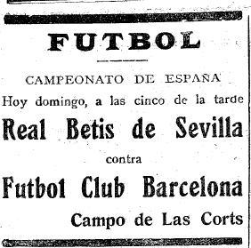 Fuente: Mundo Deportivo 17 de Abril de 1927