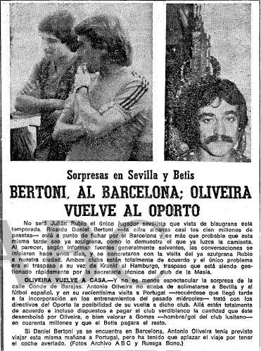 1979 Oliveira vuelve al Oporto