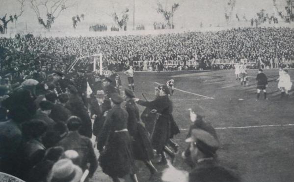 Fuente: AS 19 de febrero de 1934. Problemas en las gradas de Vallecas e intervención de los guardias de asalto