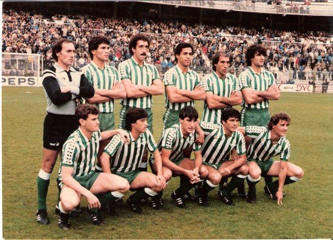 Abril-19 Alineación Madrid-Betis 1982