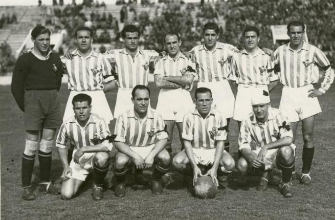 Alineación Betis-Sabadell Liga 1942 (NMP) AGA