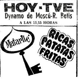 Vuelve el Eurobetis (I) Anuncio TVE ABC 15-03-1978
