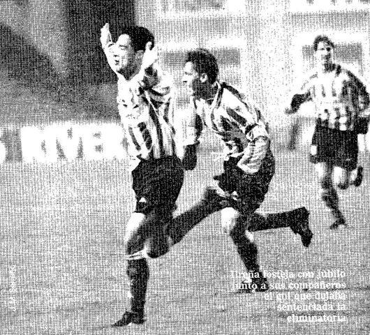 Fuente: ABC 7 de noviembre de 1997. Ureña celebra el gol del empate