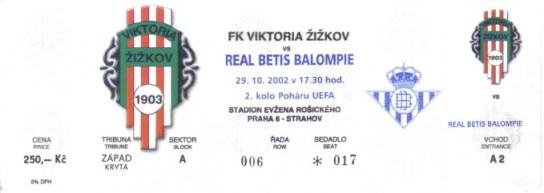 Entrada del Viktoria Zizkov-Betis