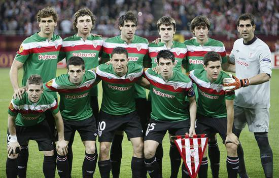 El Athletic en la final de la Uefa 2012