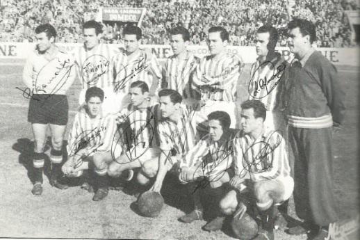 Abril-29 Alineación Betis-Castellón Liga 1956