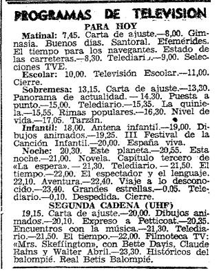 Fuente: ABC 10 de diciembre de 1969