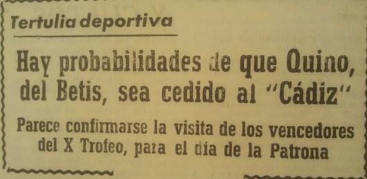Fuente: Diario de Cádiz 5 de septiembre de 1964