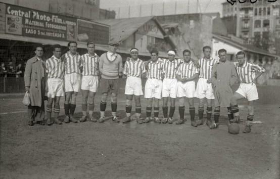 1931. El primer equipo del Betis que jugó en Atocha