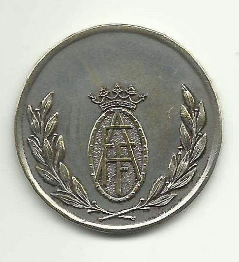Medalla Plata Bodas Oro FAF-Anverso Enrique Añino Ilzarbe de Andueza,