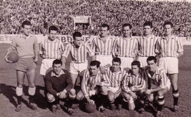 Alineación Betis-Atco. Tetuán Liga 1955