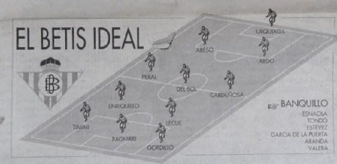 El Betis ideal de José María De la Concha (NMP) ECA 10-09-1994