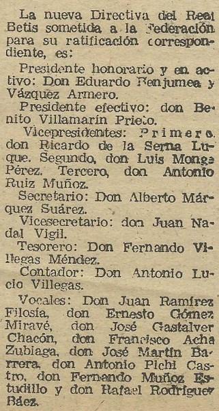 1956-1957 Junta Directiva RBB
