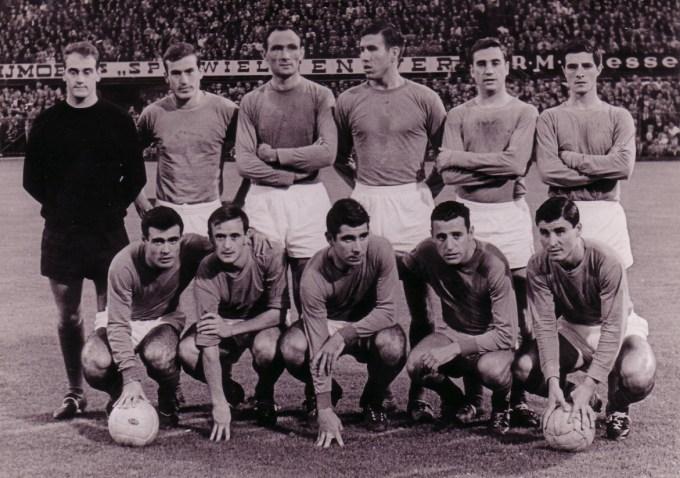 Alineación Feyenoord-Betis Amistoso 1964 (NMP)