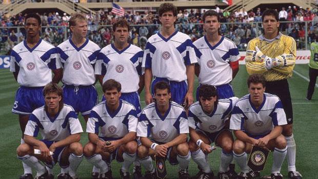 La selección de Estados Unidos en el Mundial de Italia en 1990