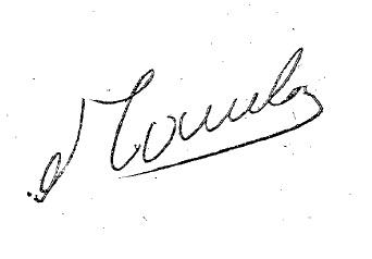 Figuras del Fútbol. Juan Carlos Mameli-firma