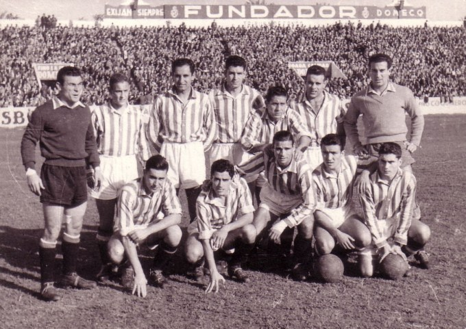 Alineación Betis-Jaén Liga 1955  AS