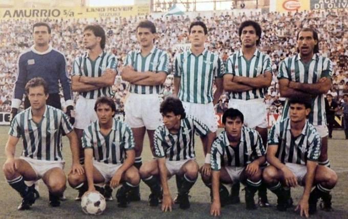 Alineación Betis-Barcelona Copa de la Liga  1986