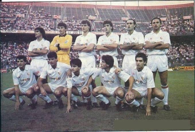 El Sevilla en la temporada 1989-90