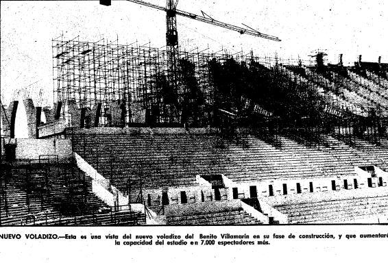 Imagen de la construcción del voladizo publicada en AS el 23 de agosto de 1976