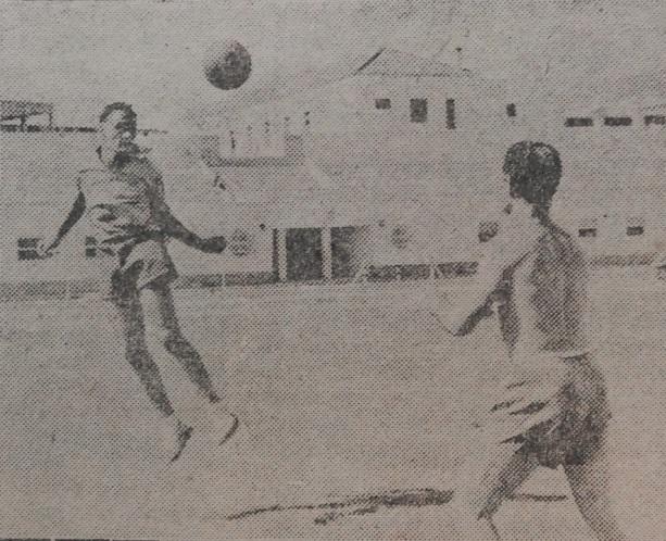 Eusebio Ríos con Seguer en su primer entrenamiento en la Macarena