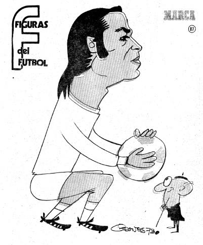 Figuras del Fútbol. Joaquín Sierra Quino. dibujo