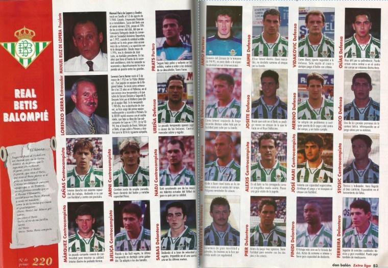 El Betis en Don Balón 1996
