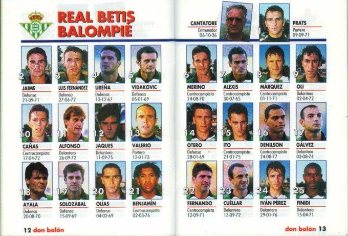 El Betis en Don Balón 1998 (II)