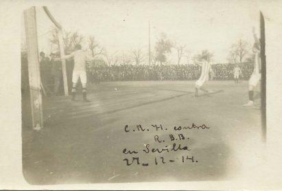 1914-Diciembre 27-Desafío Primero.-Real Betis Balompié-1 Club Huelva Recreativo-3.-102Aniversario.