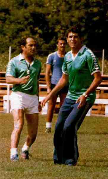 Luis Carriega y Rogelio Sosa en un entrenamiento