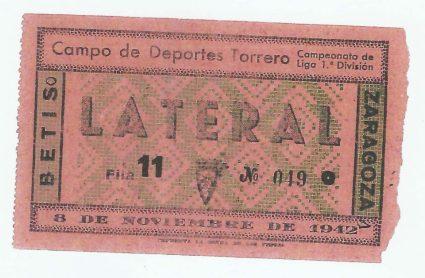 1942-Noviembre 8-1DJda07-Torrero.-Zaragoza Cf-1 Real Betis Balompié-0.-75Aniversario.