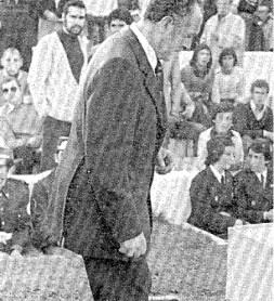 Hoy hace 38 años. Cese de Rafael Iriondo, sustituido por Pedro Buenaventura.