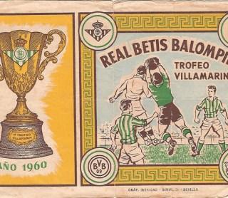 Hoy hace 60 años. Betis 0 Real Madrid 1 en el Trofeo Villamarín.
