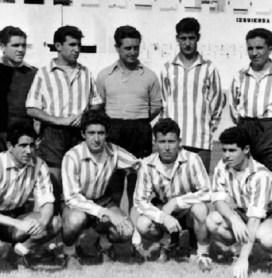 Pepe Valera con los fichajes de 1955