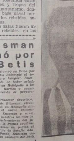 Hoy hace 63 años. Fichaje de Janos Kuszman.