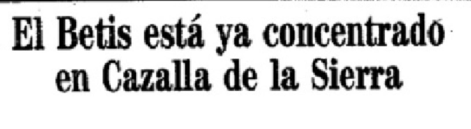 Hoy hace 28 años. Comienza la concentración en Cazalla de la Sierra.