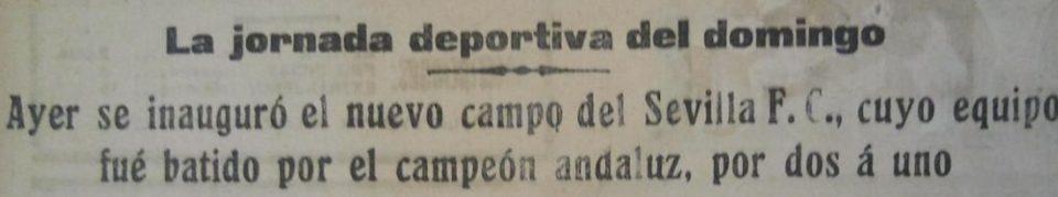 Hoy hace 92 años. Victoria 1-2 del Betis sobre el Sevilla en la inauguración de Nervión.