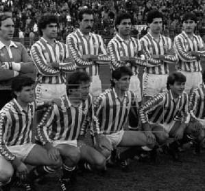 Alineación Atlético de Madrid-Betis Liga 1985