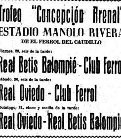 El Betis y los torneos de verano gallegos
